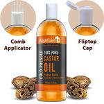 Wishcare Premium Cold Pressed Castor Oil For Hair & Skin (200Ml)