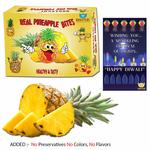 (Other seller 409 )Bogatchi Dried Real Pineapple Bites Diwali Gift Pack, 200g with Free Diwali Greeting Card