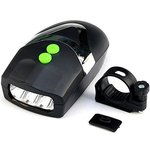 Head Light & Bell Horn Hooter Siren Alarm Bicycle Cycling Black
