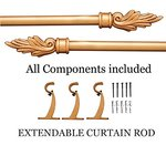 Deco Window Flame Extendable Curtain Rod- Rs  399  [ 60 %  off   ] @  amazon