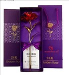 International Gift Red Rose 25 cm Gift Box and Carry Bag (25 cm, Red) from 315 rs