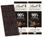 41% off on Lindt Excellence 90% Cocoa Dark Supreme Noir Chocolate Bar, 2 X 100 g