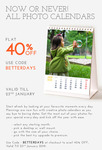 Zoomin : Flat 40% off on all photo calendars.