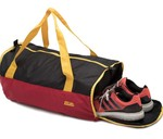 Mufubu Presents Get Unbarred 32 LTR Gym Duffel Bag with Shoe Compartment (Red & Black)