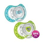 Lovi 22/806B Dynamic Spark Soother - 2 Pieces (Blue/Green)