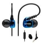 Rovking V1 In Ear Bass Headphones With Remote And Mic Noise Sound Isolating Earbuds, Blue