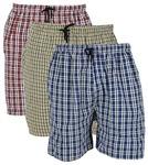 Mens checkered design shorts @ 83% Off @ 258/-