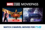 Buy Marvel Moviepass and watch both the marvel movies at just Rs 150.