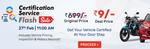 LIVE - Droom- Certification service flash sale