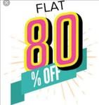 Jabong Flat 80%/70%/60% off