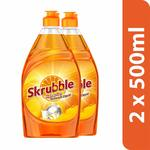 Skrubble High Action Dish Wash Liquid - 500 ml (Pack of 2) at Rs.109