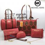 Woman's handbag Set of 5 (Red) With Free Gift Rs. 299/-