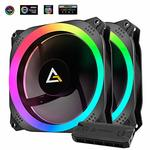 [LOWEST] Antec Prizm 140mm RGB Case Fan Radiator - 2 Pack with Controller Hub