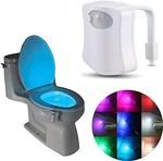 Clomana 8 Colour Led Light Sensor Motion Activated Glow Toilet Bowl(Multicolour)