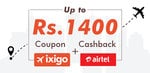 ixigo Coupon + Airtel Cashback Offer