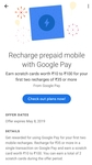 (Back again) Google Pay: Get scratch card worth 10 to 100 on min recharge of 35.