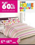 FLAT 60% off by Bombay Dyeing , Cannon , Dreamline , Raymond only at Big Bazaar